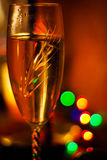 Vidro de Champagne - ano novo feliz Imagens de Stock Royalty Free