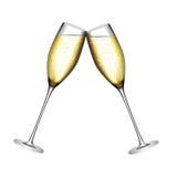 Vidro de Champagne Vetora Illustration Imagens de Stock