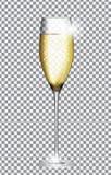 Vidro de Champagne Vetora Illustration Imagem de Stock