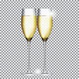 Vidro de Champagne Vetora Illustration Fotografia de Stock Royalty Free