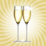 Vidro de Champagne Vetora Illustration Imagens de Stock Royalty Free