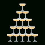 Vidro de Champagne Vetora Illustration Foto de Stock Royalty Free