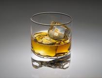 Vidro de escocês no cinza Fotos de Stock Royalty Free