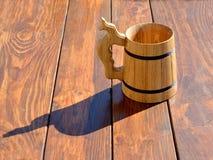 Vidro de madeira Foto de Stock Royalty Free