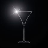 Vidro de Martini. cocktail. Vetor. Fotografia de Stock