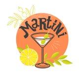 Vidro de Martini com azeitonas Imagens de Stock Royalty Free