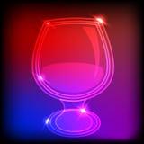Vidro de néon Fotografia de Stock Royalty Free