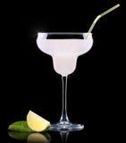 Vidro de Pina Colada Cocktail Foto de Stock