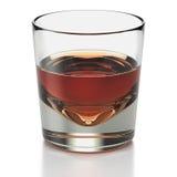Vidro de tiro curto da bebida com tipo bebida do uísque Foto de Stock Royalty Free