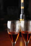 Vidro de vinho Foto de Stock Royalty Free