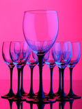 Vidro de vinho Fotografia de Stock Royalty Free