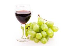 Vidro de vinho da uva Fotografia de Stock