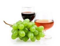 Vidro de vinho da uva Imagens de Stock
