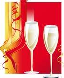 Vidro de vinho do feriado Fotografia de Stock