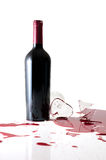 Vidro de vinho quebrado Imagens de Stock