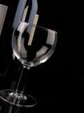 Vidro de vinho vazio Fotografia de Stock