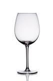 Vidro de vinho vazio. Imagem de Stock