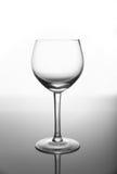 Vidro de vinho vazio Imagens de Stock