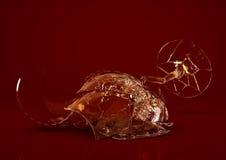 Vidro de vinho vazio quebrado Fotografia de Stock Royalty Free
