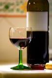 Vidro de vinho vermelho Foto de Stock Royalty Free