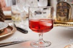 Vidro do aperitivo cor-de-rosa Imagem de Stock