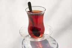 Vidro do chá turco Fotografia de Stock