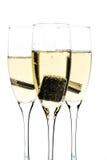 Vidro do champanhe com chocolate para dentro Fotografia de Stock