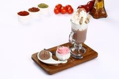 Vidro do chocolate quente Fotografia de Stock