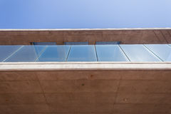 Vidro do concreto da seção do patamar da construção Fotografia de Stock