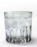 Vidro do gelo - água fria foto de stock