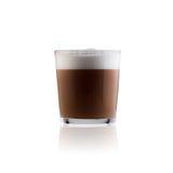 Vidro do latte do café Foto de Stock