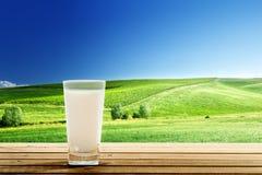 Vidro do leite foto de stock