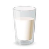 Vidro do leite Imagens de Stock