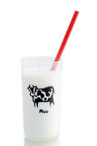 Vidro do leite Foto de Stock Royalty Free