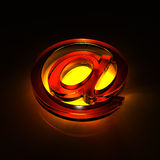Vidro do símbolo do email - laranja Imagens de Stock Royalty Free