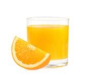 Vidro do suco de laranja, isolado no fundo branco Imagens de Stock