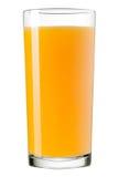Vidro do suco de laranja, isolado no fundo branco Fotografia de Stock