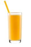 Vidro do suco de laranja, isolado no fundo branco Imagens de Stock Royalty Free