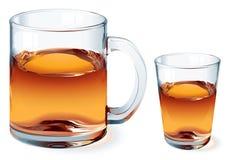 Vidro do vetor do chá imagens de stock