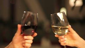 Vidro do vinho vídeos de arquivo