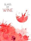 Vidro do vinho Foto de Stock Royalty Free