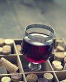Vidro do vinho tinto, cor do vintage tonificada Foto de Stock Royalty Free
