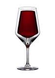 Vidro do vinho tinto da vida ainda isolado no branco Fotografia de Stock Royalty Free
