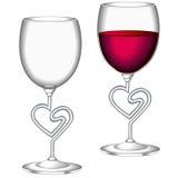 Vidro do vinho vermelho Ilustração Royalty Free