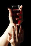 Vidro do vinho vermelho Fotografia de Stock Royalty Free