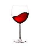 Vidro do vinho vermelho com onda foto de stock royalty free