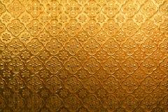 Vidro do vintage da flor do ouro amarelo para a textura e o fundo abstratos imagens de stock