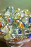 Vidro dos mármores Fotos de Stock Royalty Free