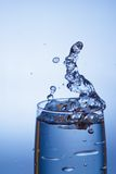 Vidro e água Imagem de Stock Royalty Free
