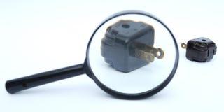 Vidro e adaptadores do Magnifier Imagem de Stock